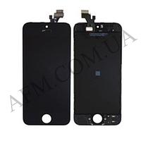 Дисплей (LCD) iPhone 5 с сенсором чёрный оригинал