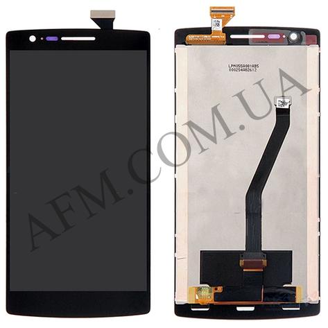 Дисплей (LCD) OnePlus One/  A0001 с сенсором чёрный оригинал, фото 2