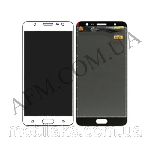 Дисплей (LCD) Samsung G610 Galaxy J7 Prime/  Sm- G610 Galaxy On Nxt с сенсором белый оригинал