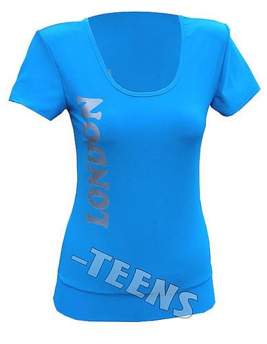 Летняя футболка на манжете Лондон