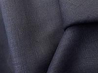 Льняная сорочечная ткань, цвета Вороньего Крыла, фото 1