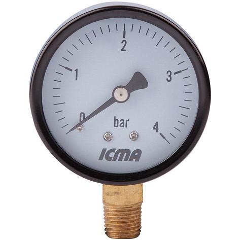 Манометр д. 63 радиальное подключение 1/4 (Атм.0-6) ICMA Арт. 244