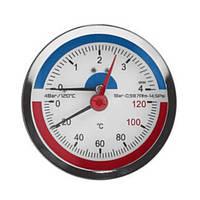 Термоманометр заднее подключение 4 бар SD