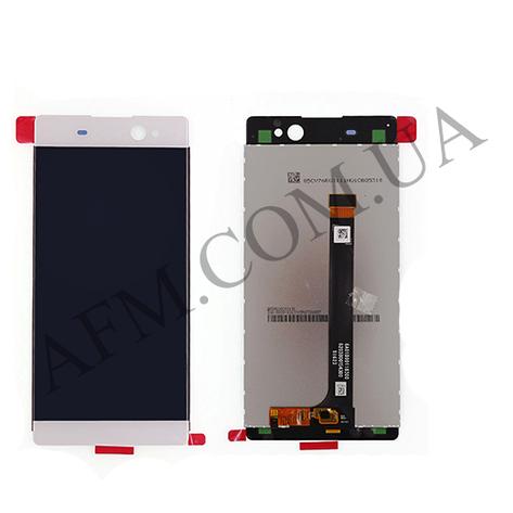 """Дисплей (LCD) Sony F3212 Xperia XA Ultra Dual Sim/  F3215/  F3216,   6"""" с сенсором белый оригинал, фото 2"""