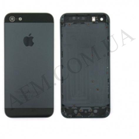 Задняя крышка корпус iPhone 5 чёрная полный комплект, фото 2