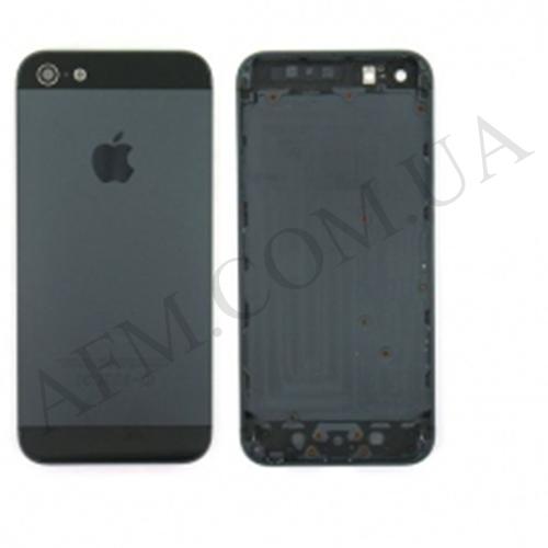 Задняя крышка корпус iPhone 5 чёрная полный комплект