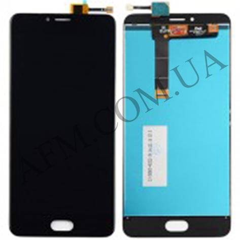 Дисплей (LCD) Meizu U20 с сенсором чёрный, фото 2