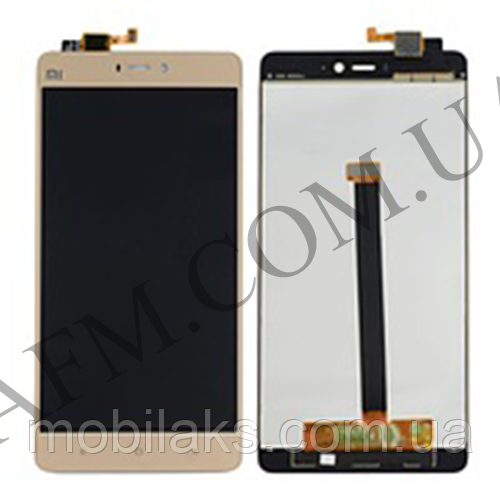 Дисплей (LCD) Xiaomi Mi4s с сенсором золотой