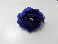 Заколка для волос синий пион