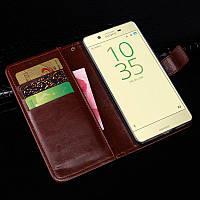Чехол Idewei для Sony Xperia X Dual F5122 книжка кожа PU коричневый