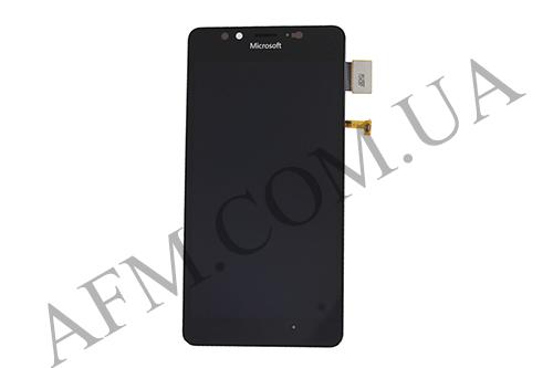 Дисплей (LCD) Microsoft 950 Lumia Dual Sim с сенсором чёрный оригинал, фото 2