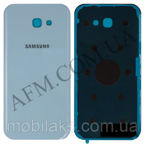 Задняя крышка Samsung A720F Galaxy A7 (2017) голубая оригинал, фото 2