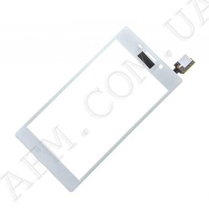 Сенсор (Touch screen) Sony D2302/  D2303/  D2305/  D2306 Xperia M2 белый оригинал