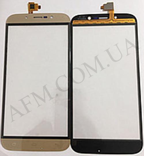 Сенсор (Touch screen) Bravis A553 Discovery Dual Sim/ S-TELL M555/ UMI Rome X золотой