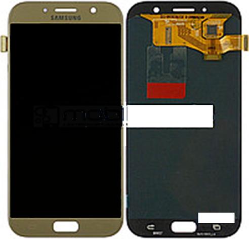 Дисплей (LCD) Samsung GH97- 19723B A720F Galaxy A7 (2017) с сенсором золотой сервисный, фото 2