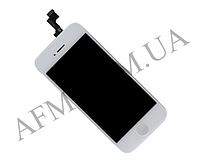 Дисплей (LCD) iPhone 5S/  SE с сенсором белый оригинал