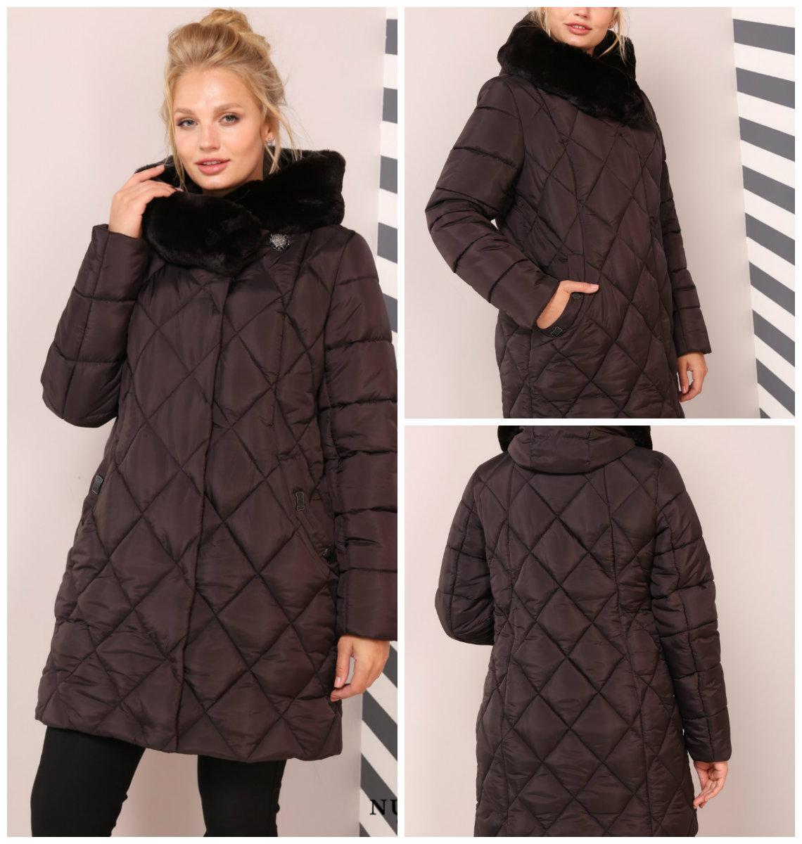 Роскошная зимняя куртка на пуху Валенсия, 48-64