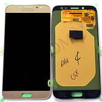 Дисплей (LCD) Samsung GH97- 20736C J730 Galaxy J7 (2017) с сенсором золотой сервисный