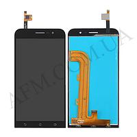 Дисплей (LCD) Asus ZenFone Go (ZB500KL) с сенсором чёрный