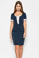 Платье женское №20 (синий/белый)