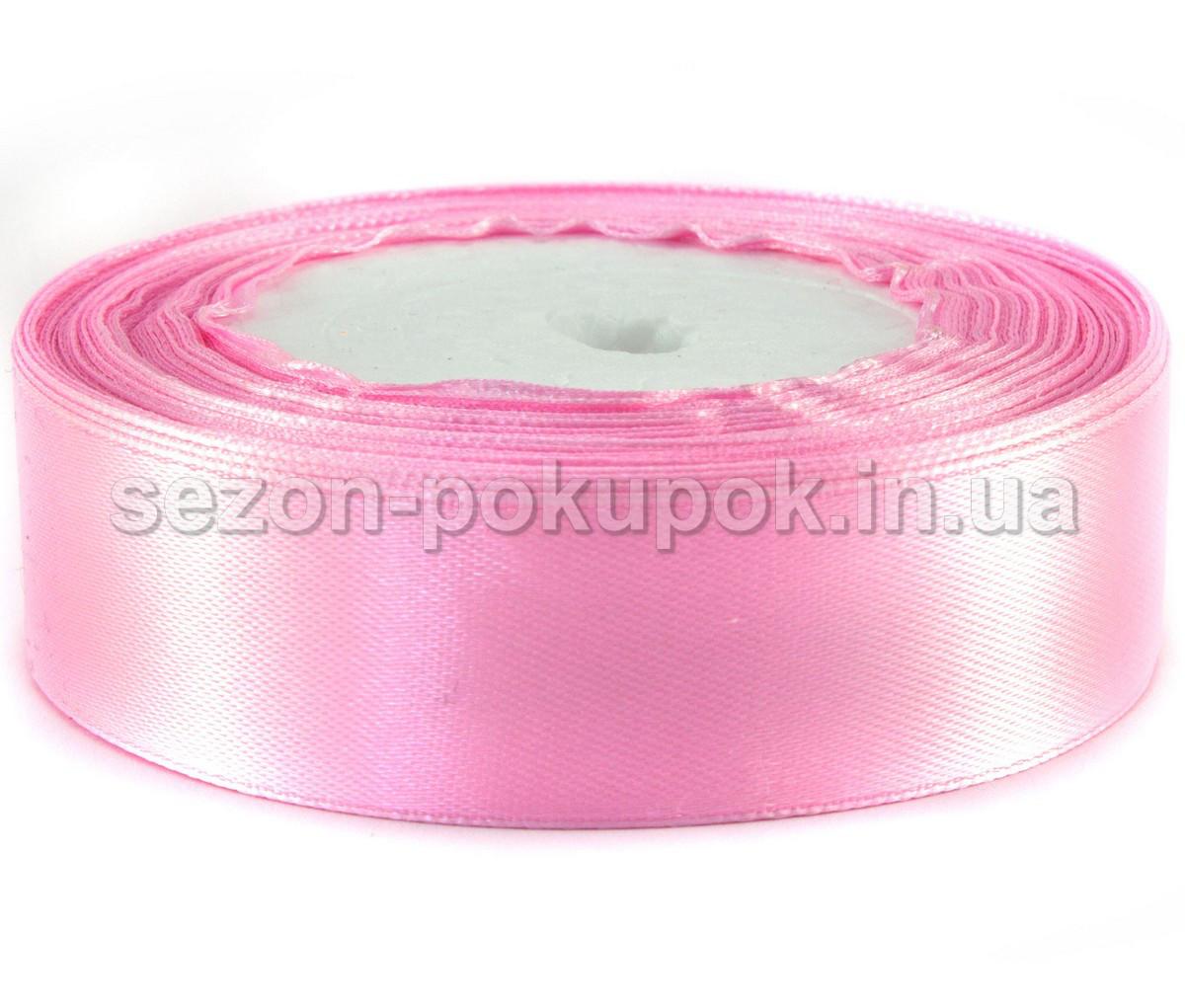 Лента атласная 23 метра 2.5 см. цвет - нежно розовый