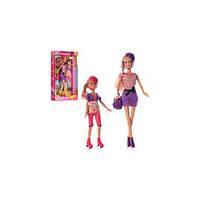 Кукла DEFA 8130 2шт (30см, 22см), рюкзак, очки, 2 цвета, в кор-ке, 20-34,5-6см(DEFA 8130)