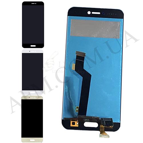 Дисплей (LCD) Xiaomi Mi5c с сенсором чёрный