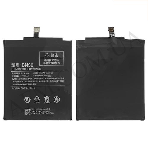 АКБ оригинал Xiaomi BN30 (Redmi 4A) 3030 mAh
