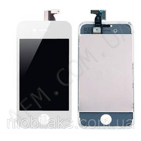 Дисплей (LCD) iPhone 4S с сенсором белый оригинал, фото 2