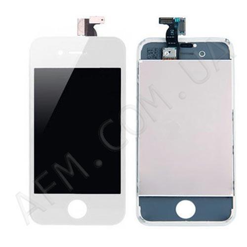 Дисплей (LCD) iPhone 4 с сенсором белый оригинал