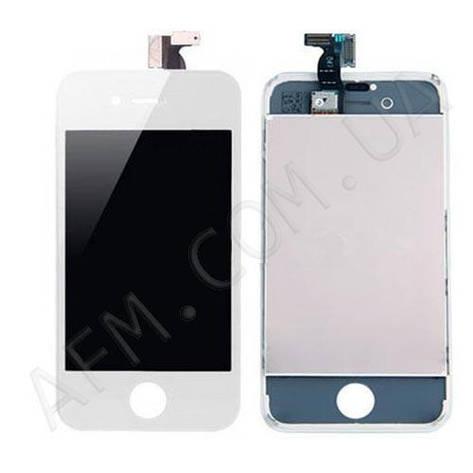 Дисплей (LCD) iPhone 4 с сенсором белый оригинал, фото 2