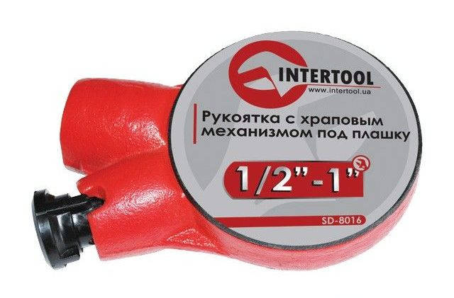 "Храповый механизмом под плашку 1/2""-1"" Intertool SD-8016, фото 2"