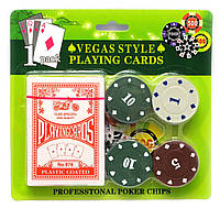 Покерный набор (17х16,5х2 см)(28 фишек)