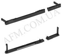 Боковая заглушка Sony D2302 Xperia M2 Dual Sim S50h,   чёрная,   полный комплект (2 шт.)