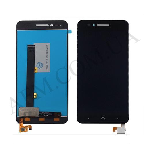 Дисплей (LCD) ZTE A610 с сенсором чёрный