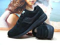 Мужские кроссовки Saucony Shadow (реплика) черные 45 р., фото 1