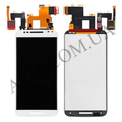 Дисплей (LCD) Motorola XT1570 Moto X Style/  XT1572/  XT1575 с сенсором белый, фото 2