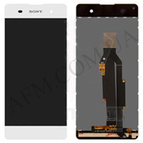 Дисплей (LCD) Sony F3111 Xperia XA/  F3112/  F3113/  F3115/  F3116 с сенсором белый оригинал