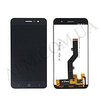 Дисплей (LCD) ZTE A520 Blade с сенсором чёрный оригинал