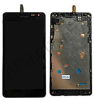 Дисплей (LCD) Microsoft 535/  535 Lumia Dual Sim с сенсором чёрный + рамка (CT2S1973FPC- A1) ориг
