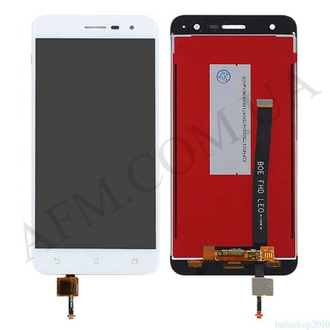 Дисплей (LCD) Asus ZenFone 3 (ZE552KL) с сенсором белый, фото 2