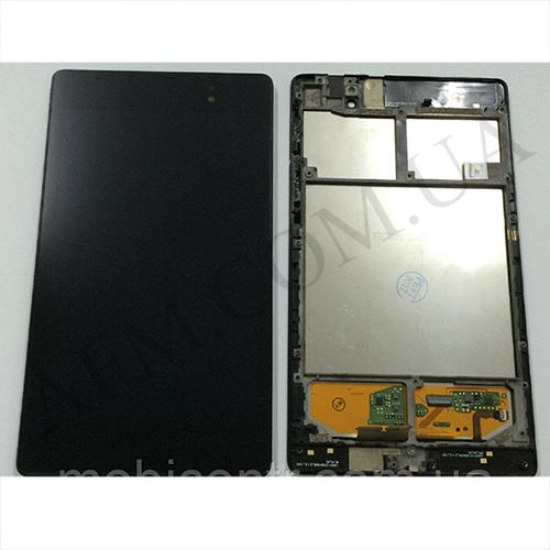 Дисплей (LCD) Asus ME571K Google Nexus 7 NEW с сенсором чёрный (2 поколение 2013) 3G+ рамка