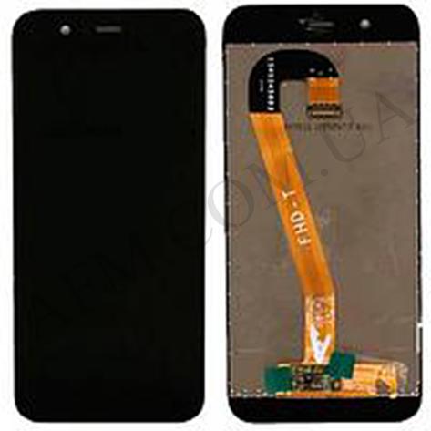 Дисплей (LCD) Huawei Nova 2 (PIC- L29) 2017 с сенсором чёрный, фото 2