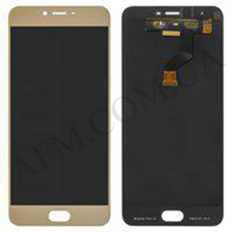 Дисплей (LCD) Meizu M3x (Meizu X) с сенсором золотой, фото 2
