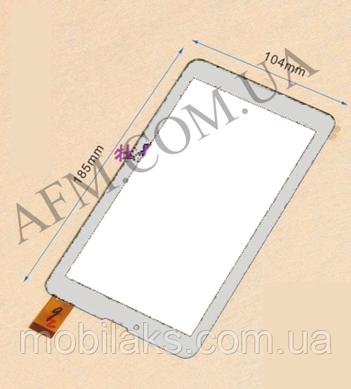 Сенсор (Touch screen) Nomi (104*185) C07000/  C07005/  C07008/  C07009 Rev 1/  A07005 белый