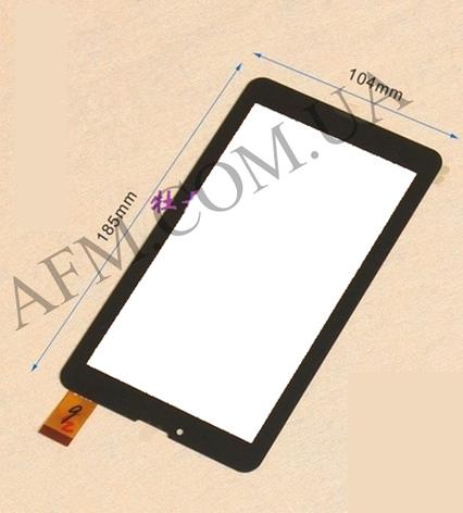 Сенсор (Touch screen) Nomi (104*185) C07000/  C07005/  C07008/  C07009 Rev 1/  A07005 чёрный, фото 2
