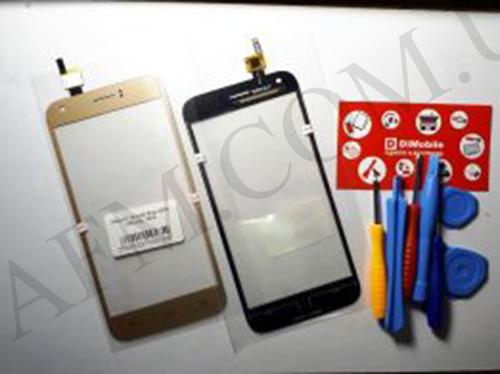 Сенсор (Touch screen) Ergo A502 золотой