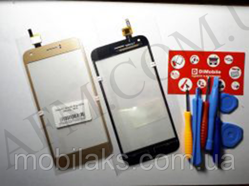 Сенсор (Touch screen) Ergo A502 золотой, фото 2