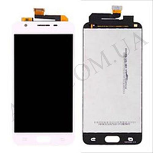 Дисплей (LCD) Samsung G570 Galaxy J5 Prime (2016) с сенсором белый