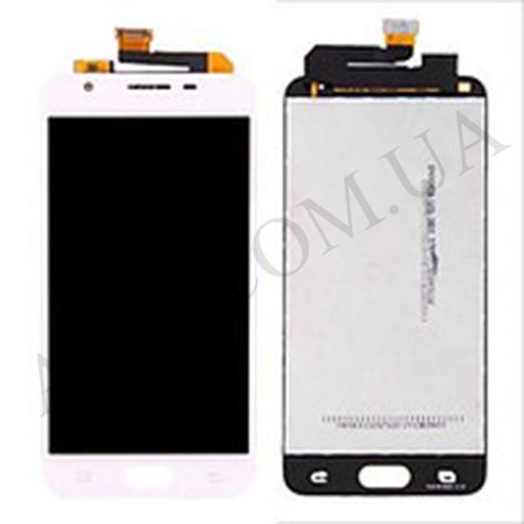 Дисплей (LCD) Samsung G570 Galaxy J5 Prime (2016) с сенсором белый, фото 2